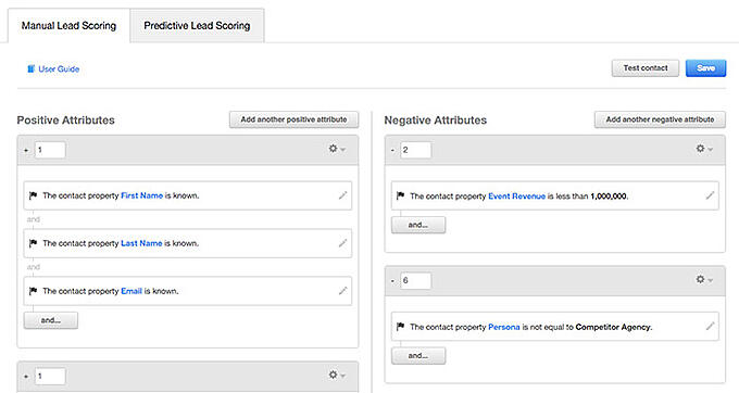 hubspot manual lead scoring