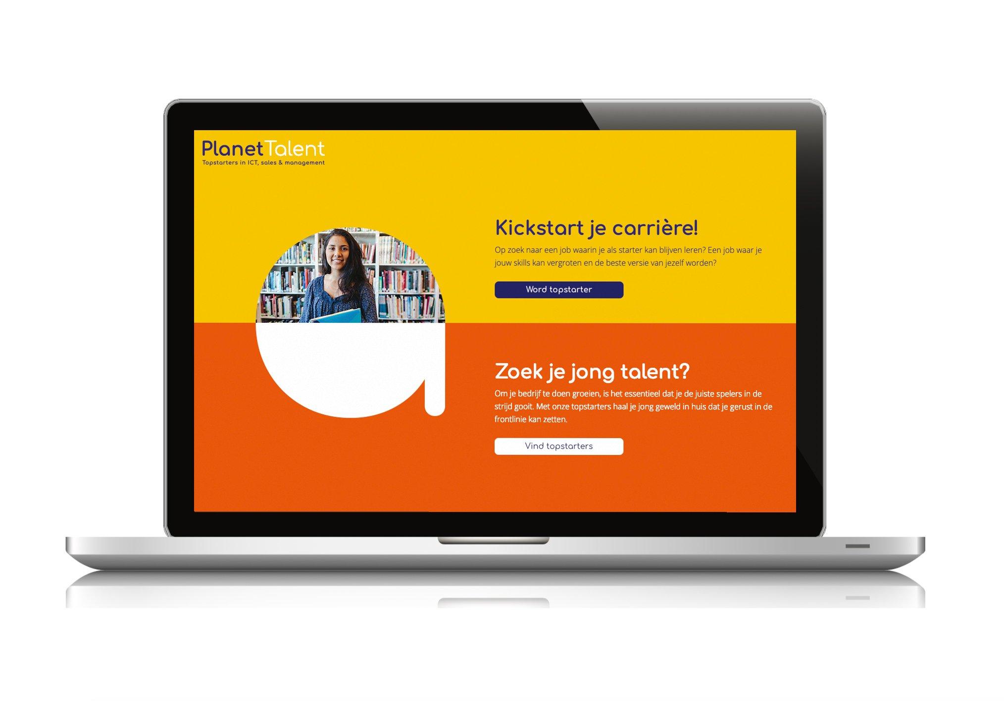 Nieuwe website Planet Talent