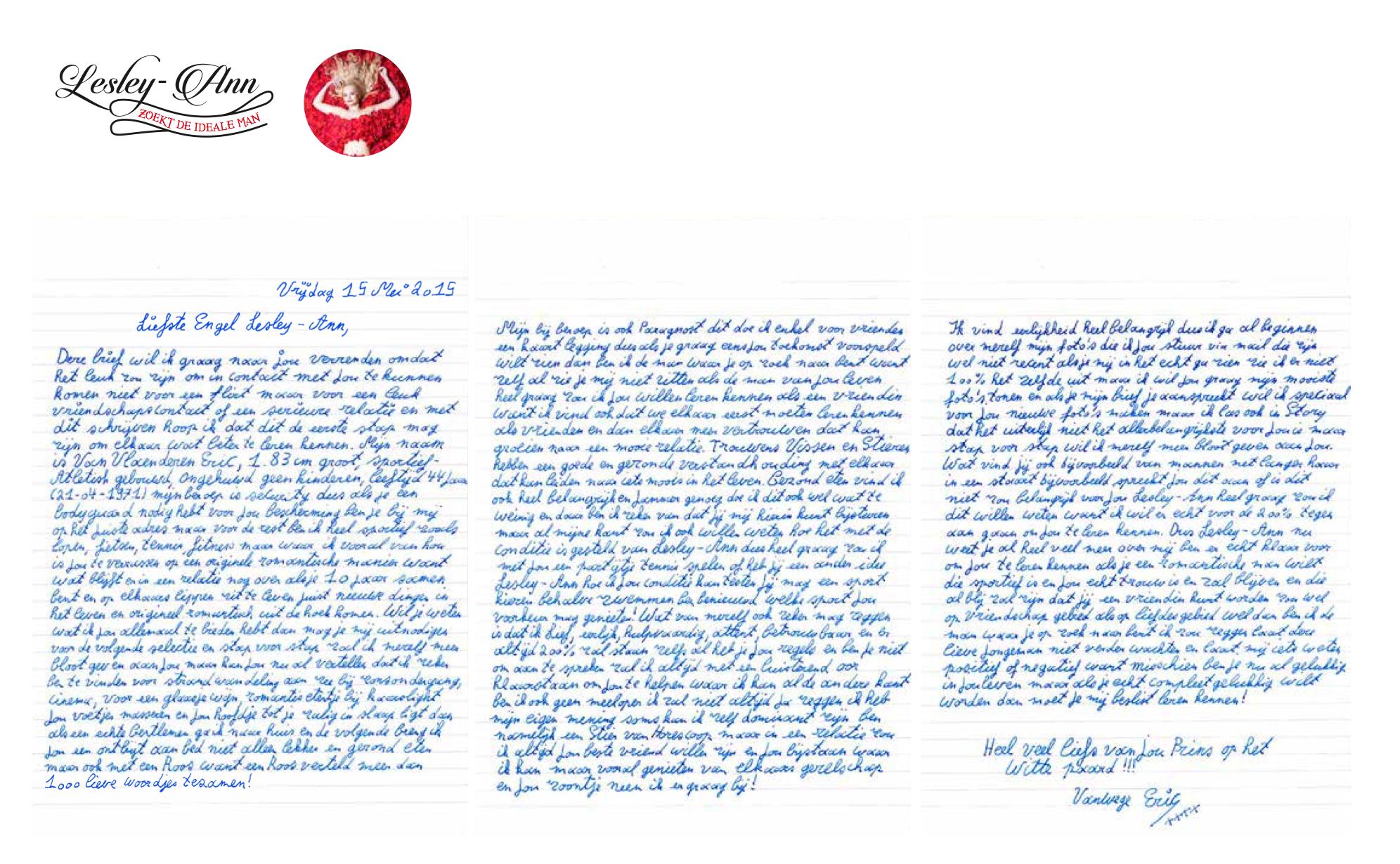 Liefdesbrief voor Lesley-Ann