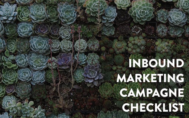 inbound marketing campagne checklist
