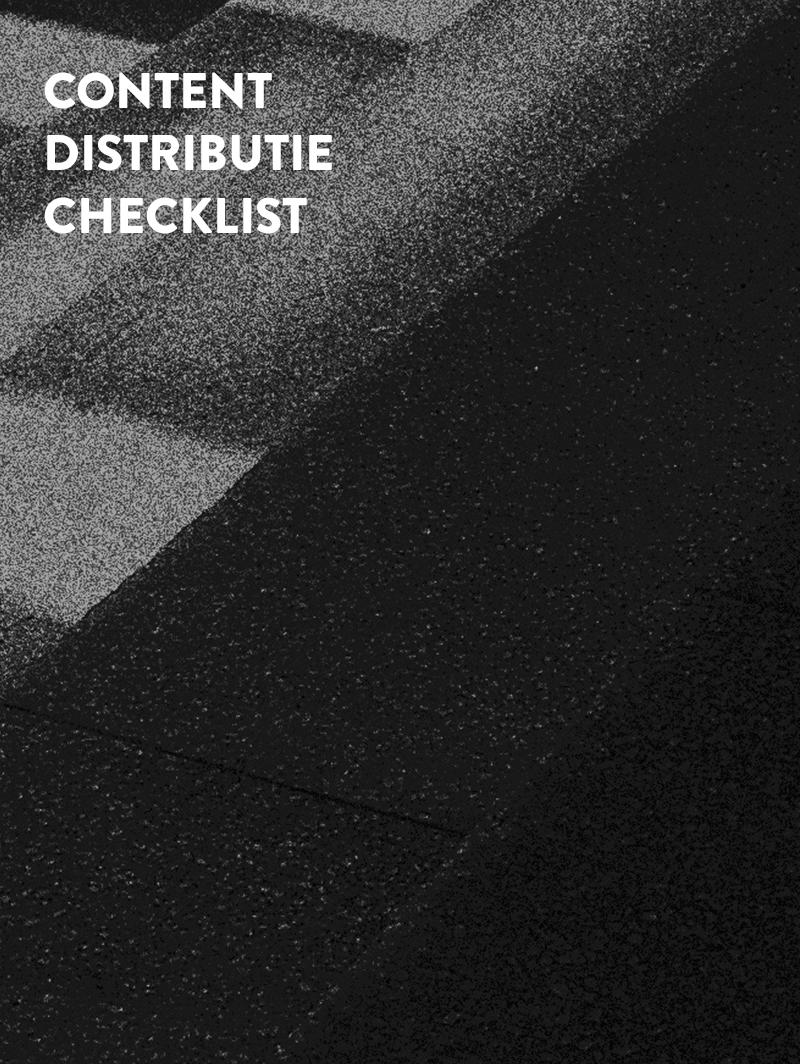 content distributie checklist